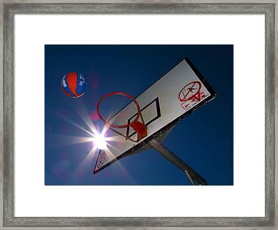 Shootin Hoops Framed Print