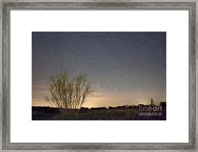 Shooting Star Framed Print by Andre Goncalves