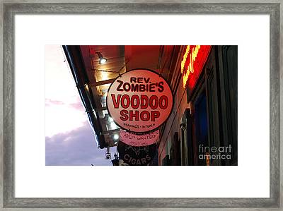 Shop Signs French Quarter New Orleans Framed Print