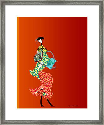 Shopper Framed Print