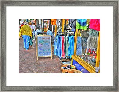 Shopping Framed Print by Barry R Jones Jr