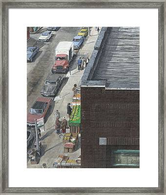 Framed Print featuring the painting shopping bklyn ny 1970S by Stuart B Yaeger