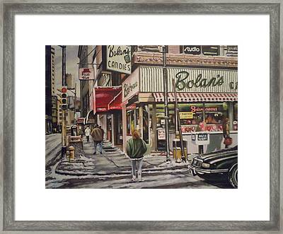 Framed Print featuring the painting Shopping For A Heart by James Guentner