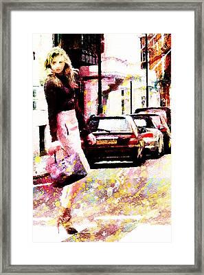Shopping Girl Framed Print by Andrea Barbieri