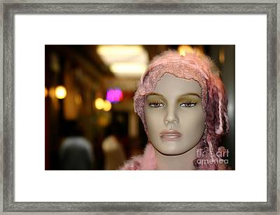 Shopping Girl Framed Print