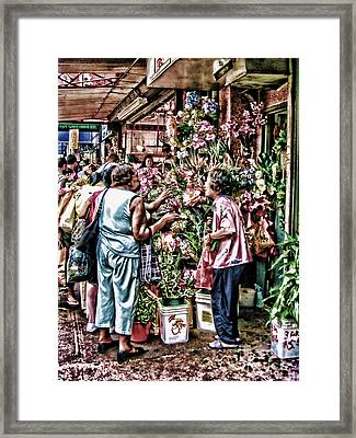 Shopping In Chinatown Framed Print by Anne Ferguson