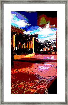 Shops Framed Print by David Alvarez
