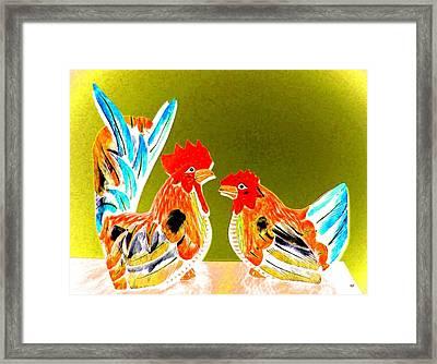 Shoptalk Framed Print by Will Borden