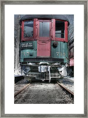 Shore Line Route Evanston Framed Print by David Bearden