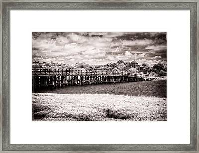 Shoreham Toll Bridge - Infrared Photography Framed Print