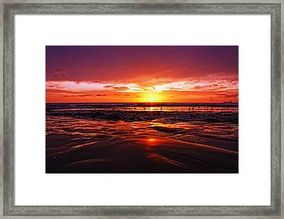 Shoreline Drama Framed Print by Donna Pagakis