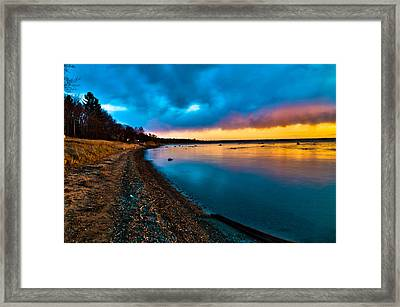 Shoreline Framed Print by Jason Naudi Photography