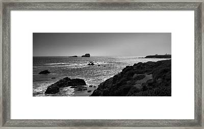 Shoreline Near Piedras Blancas I Framed Print by Steven Ainsworth