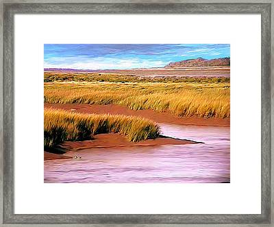 Shoreline Painting Wolfville Harbour Framed Print