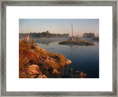 Shorelines Black  River Lake Framed Print