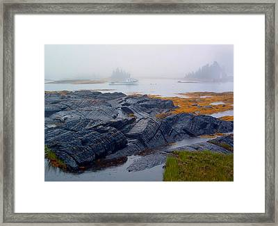 Shorelines Bluerocks Lunenburg Nova Scotia Framed Print