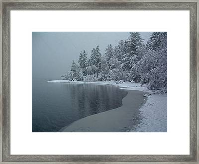 Shorelines Lumsden Pond Reduced Visibility Framed Print
