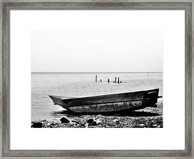 Shores Of Lake Atitlan Framed Print by Daniel Morgan