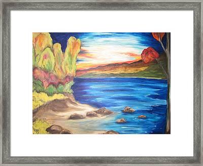 Shores Of Maine Framed Print by Cheryl Pettigrew