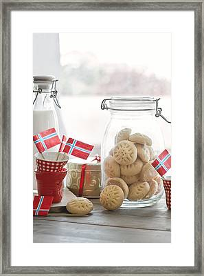 Shortbread Biscuits Framed Print by A.Y. Photography
