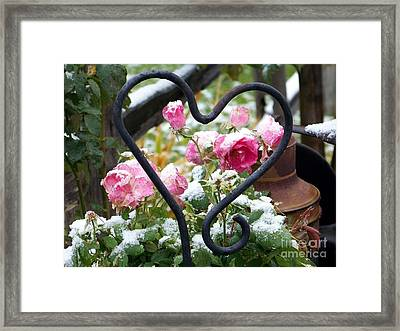 Shot Through The Heart Framed Print