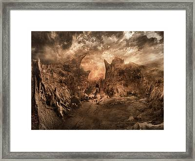 Shouting Valley Framed Print by Akos Kozari
