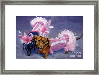 Framed Print featuring the painting Show Girls by Pat Burns