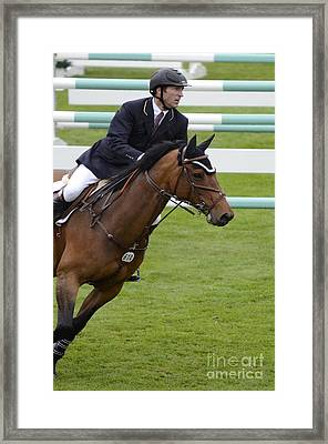 Show Jumping 1 Framed Print by Bob Christopher