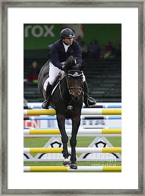 Show Jumping 4 Framed Print by Bob Christopher