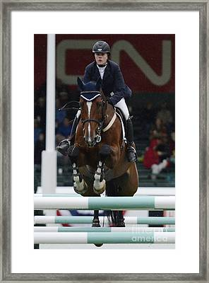 Show Jumping 6 Framed Print