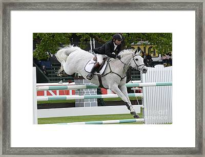 Show Jumping 7 Framed Print by Bob Christopher