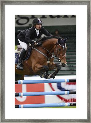 Show Jumping 8 Framed Print