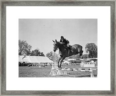Show Jumping Framed Print by J A Hampton