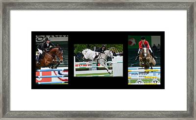 Show Jumping No Caption Framed Print