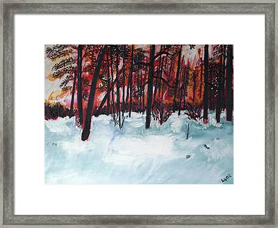 Show Low Sunset Framed Print