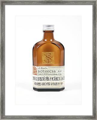 Shower Gel Bottle Framed Print by Gregory Davies, Medinet Photographics