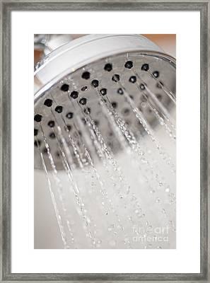 Shower Head Framed Print by Andre Babiak