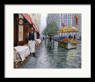 Waiter At His Station Framed Prints