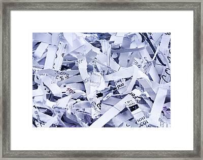 Shredded Paper Framed Print