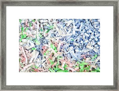 Shredded Paper Framed Print by Tom Gowanlock