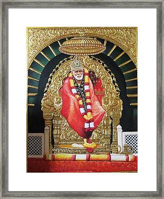 Shree Shirdi Sai Baba Framed Print by Ashok  Sharma