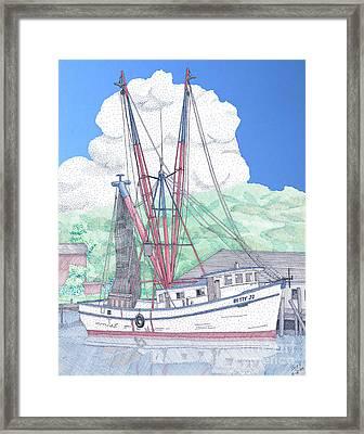 Shrimp Boat Betty Jo Framed Print by Calvert Koerber