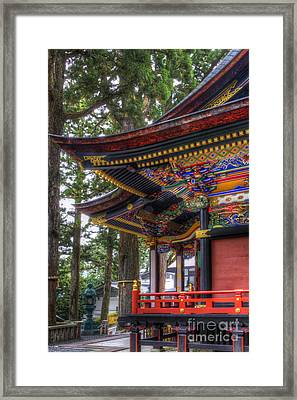 Framed Print featuring the photograph Shrine-4 by Tad Kanazaki