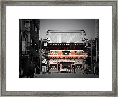Shrine In Tokyo Framed Print by Naxart Studio
