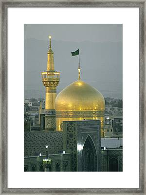 Shrine Of Imam Reza,  Eighth Shiite Framed Print by Martin Gray