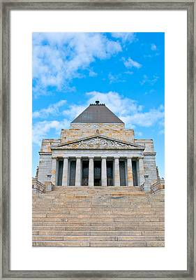 Shrine Of Rememberence Framed Print by Paul Donohoe
