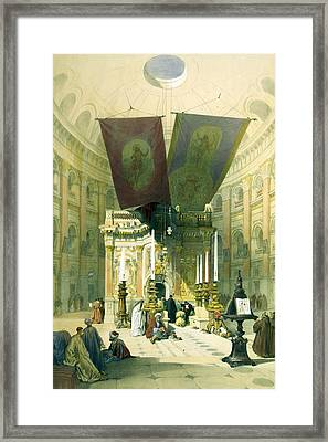 Shrine Of The Holy Sepulchre April 10th 1839 Framed Print