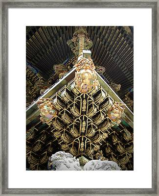 Shrine Roof Detail Framed Print by Naxart Studio