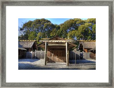 Framed Print featuring the photograph Shrine by Tad Kanazaki