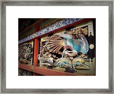 Shrine Wall Ornament Framed Print by Naxart Studio
